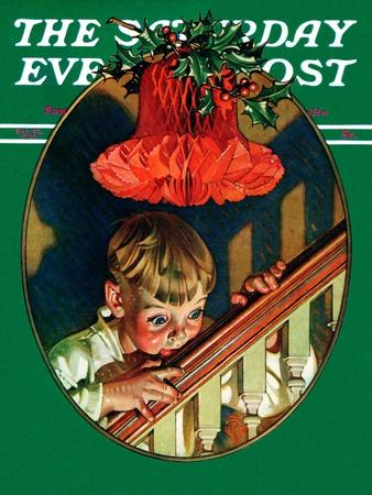 """Christmas Peek,"" Saturday Evening Post Cover, December 23, 1939"