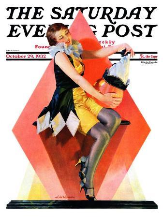 """Halloween Harlequin,"" Saturday Evening Post Cover, October 29, 1932"