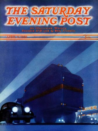 """""""Highway Diner,"""" Saturday Evening Post Cover, April 9, 1938"""