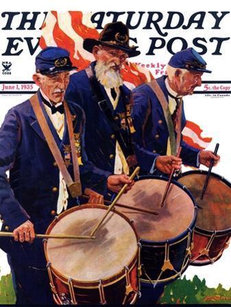 """War Veterans,"" Saturday Evening Post Cover, June 1, 1935"