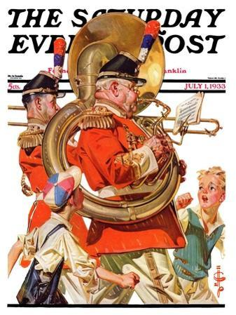 """""""Fourth of July Parade,"""" Saturday Evening Post Cover, July 1, 1933"""