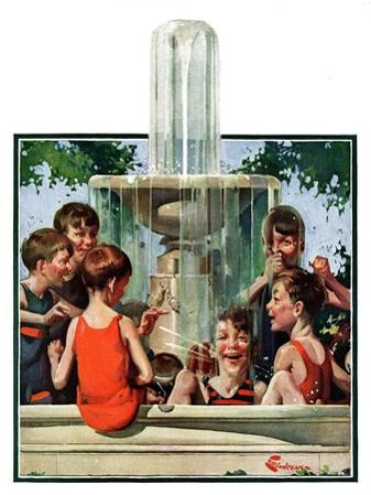 """""""Swimming in Fountain,""""July 24, 1926"""
