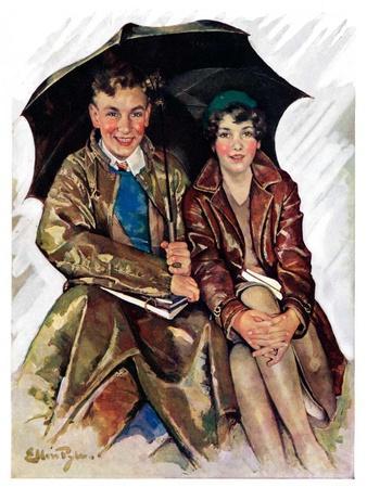 """Couple in Rain,""October 4, 1930"