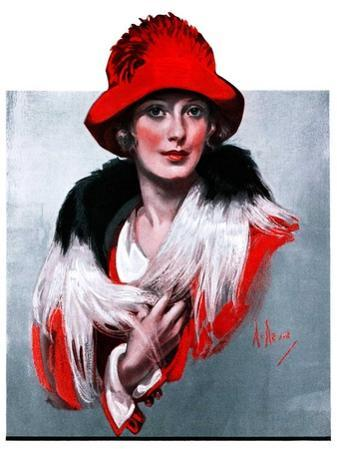 """""""Woman in Red Hat,""""March 3, 1923"""