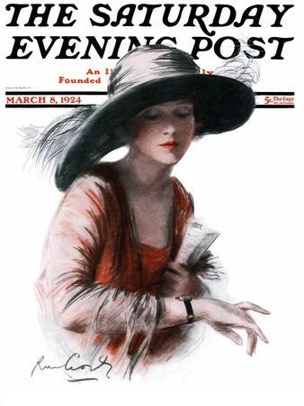 """""""He's Late,"""" Saturday Evening Post Cover, March 8, 1924"""