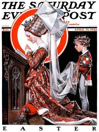 """""""Medieval Easter,"""" Saturday Evening Post Cover, April 19, 1924"""