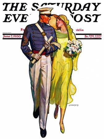 """""""Military Grad and Girl,"""" Saturday Evening Post Cover, June 7, 1930"""