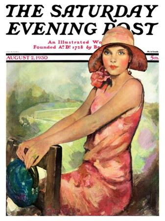 """Pretty in Pink,"" Saturday Evening Post Cover, August 2, 1930"