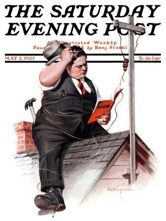 """Radio Antennae,"" Saturday Evening Post Cover, May 2, 1925"