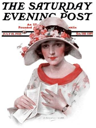 """Love Letter,"" Saturday Evening Post Cover, July 18, 1925"