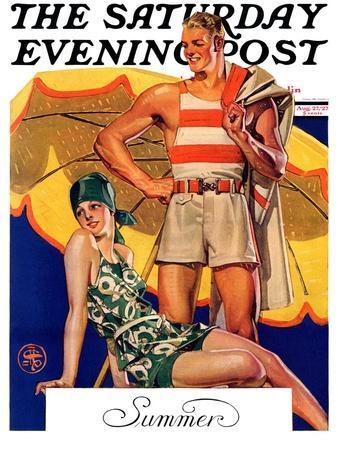 """""""Summertime, 1927,"""" Saturday Evening Post Cover, August 27, 1927"""