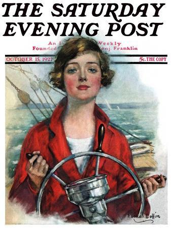 """Woman Sailor,"" Saturday Evening Post Cover, October 15, 1927"