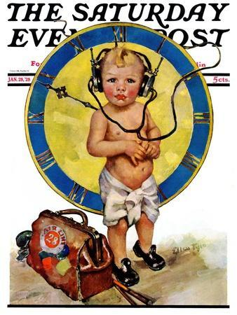 """""""Baby Pilot,"""" Saturday Evening Post Cover, January 28, 1928"""