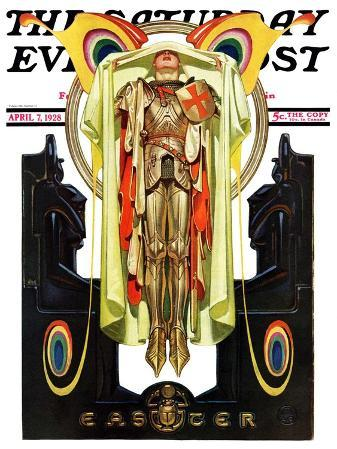 """Easter, 1928,"" Saturday Evening Post Cover, April 7, 1928"