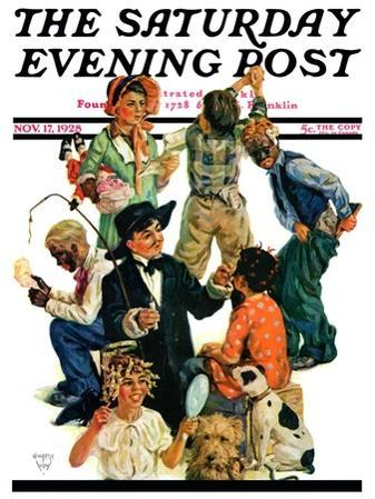"""Costumes for Play,"" Saturday Evening Post Cover, November 17, 1928"
