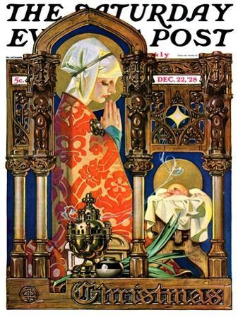 """""""Madonna and Child,"""" Saturday Evening Post Cover, December 22, 1928"""
