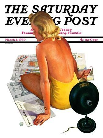 """""""Sunlamp,"""" Saturday Evening Post Cover, March 4, 1939"""