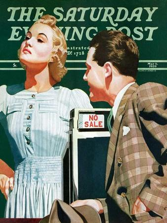 """""""'No Sale',"""" Saturday Evening Post Cover, May 6, 1939"""