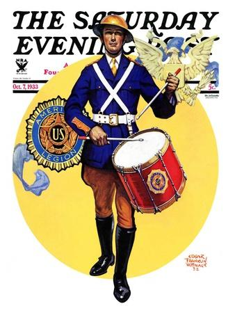 """American Legion Drummer,"" Saturday Evening Post Cover, October 7, 1933"