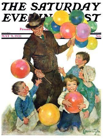 """Balloonman,"" Saturday Evening Post Cover, May 9, 1931"