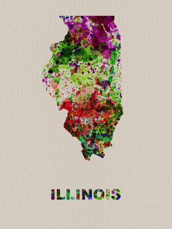 Illinois Color Splatter Map