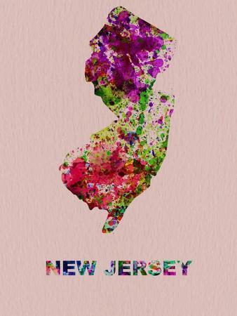 New Jersey Color Splatter Map