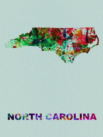 North Carolina Color Splatter Map
