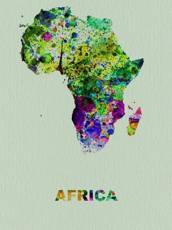 Africa Color Splatter Map