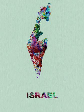 Israel Color Splatter Map