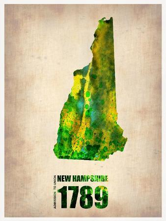 New Hampshire Watercolor Map
