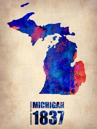 Michigan Watercolor Map