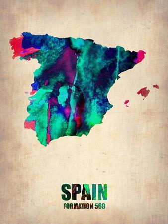 Spain Watercolor Map