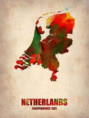 Netherlands Watercolor Map