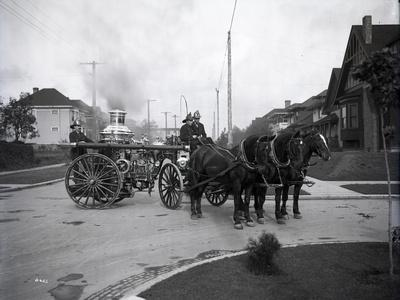 Seattle Fire Department Horse-Drawn Steam Pumper, 1907