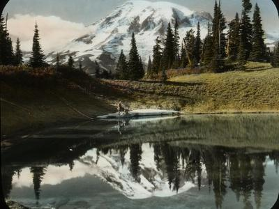 Mount Rainier and One of the Reflection Lakes, 1917