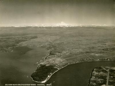 Tacoma, Washington, Aerial View (ca. 1937)