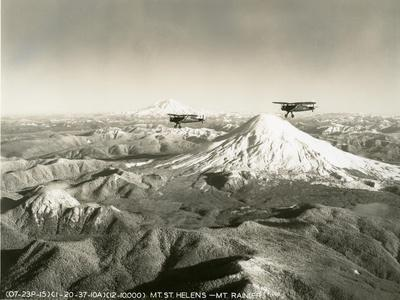 Mt. St. Helens - Mt. Rainier, 1937