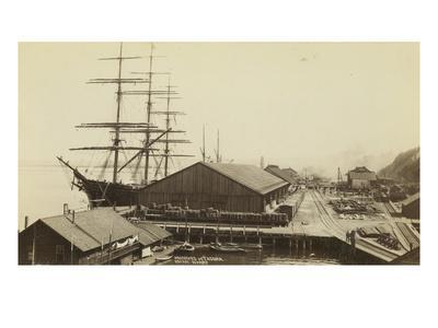 Ocean Wharf in Tacoma, Washington on Commencement Bay, 1893
