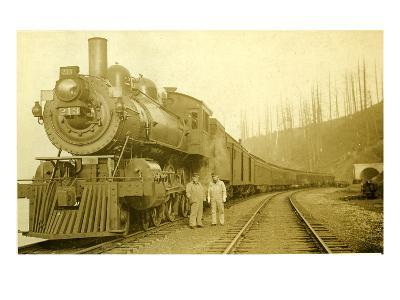 Northern Pacific Locomotive, Point Defiance, Tacoma, WA, ca. 1914