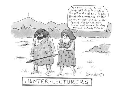Hunter-Lecturers - New Yorker Cartoon