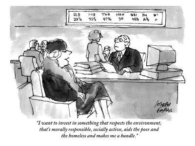 """I want to invest in something that respects the environment, that's moral…"" - Cartoon"