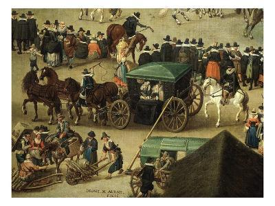 Carriage and Onlookers, from Festival of Our Lady of the Woods, 1616 (Detail)
