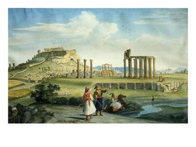 Athens, Greece, Seen from River Ilissus, Watercolour, C.1805