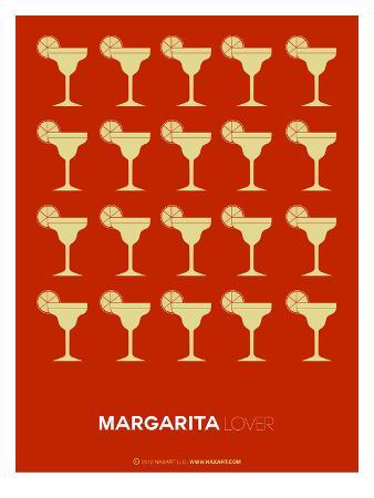 Yellow Margaritas Brown Poster