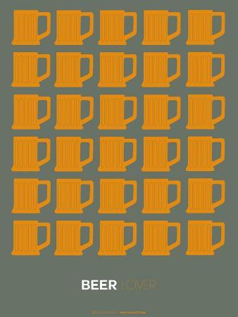 Yellow Beer Mugs Poster