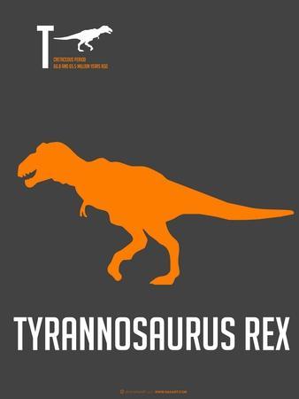 Yellow on Grey Dinosaur
