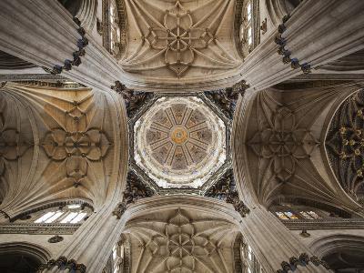 Spain, Castilla Y Leon Region, Salamanca Province, Salamanca, Salamanca Cathedrals, Ceiling