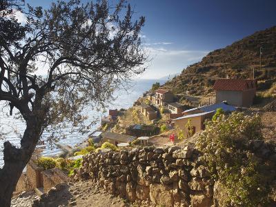 Village of Yumani on Isla Del Sol (Island of the Sun), Lake Titicaca, Bolivia