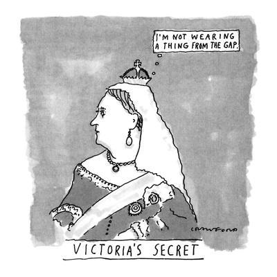 VICTORIA'S SECRET - New Yorker Cartoon