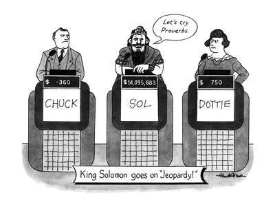 KING SOLOMON GOES ON JEOPARDY - New Yorker Cartoon